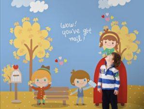 Καλωσόρισες φθινόπωρο! Παιδικά Ταπετσαρίες Τοίχου 100 x 100 εκ.