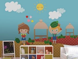 Καλωσόρισες καλοκαίρι! Παιδικά Ταπετσαρίες Τοίχου 100 x 100 εκ.