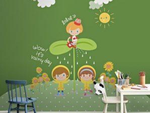 Παιδιά μες στη φύση Παιδικά Ταπετσαρίες Τοίχου 100 x 100 εκ.