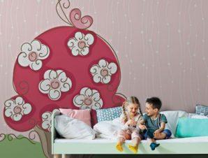 Ανοιξιάτικο κεϊκάκι Παιδικά Ταπετσαρίες Τοίχου 100 x 100 εκ.