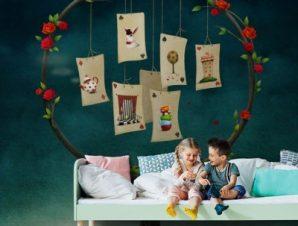Τραπουλόχαρτα Παιδικά Ταπετσαρίες Τοίχου 100 x 100 εκ.
