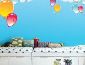 Μπαλόνια στον ουρανό Παιδικά Ταπετσαρίες Τοίχου 100 x 100 εκ.