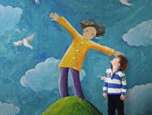 Αγόρι στον λόφο Παιδικά Ταπετσαρίες Τοίχου 100 x 100 εκ.