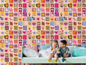 Αυτοκολλητάκια Παιδικά Ταπετσαρίες Τοίχου 110 x 110 cm