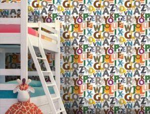 Αλφάβητος Παιδικά Ταπετσαρίες Τοίχου 100 x 100 εκ.