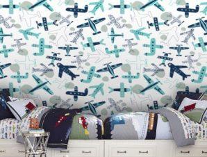 Αεροπλάνα Παιδικά Ταπετσαρίες Τοίχου 100 x 100 cm