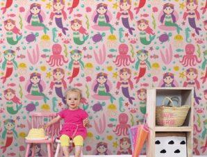 Γοργονίτσες Παιδικά Ταπετσαρίες Τοίχου 100 x 100 εκ.