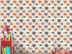 Γατούλες με Γυαλιά Παιδικά Ταπετσαρίες Τοίχου 100 x 100 εκ.