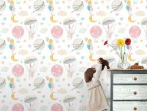 Πετώντας Ψηλά Παιδικά Ταπετσαρίες Τοίχου 100 x 100 cm