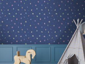 Γράμματα της Άλφαβήτου Παιδικά Ταπετσαρίες Τοίχου 100 x 100 cm