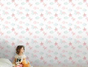 Στο Βυθό Της Θάλασσας Παιδικά Ταπετσαρίες Τοίχου 120 x 120 cm