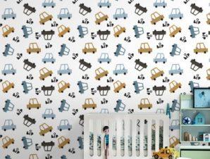 Bip Bip Παιδικά Ταπετσαρίες Τοίχου 100 x 100 cm