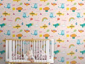 Βροχερός Ουρανός Παιδικά Ταπετσαρίες Τοίχου 100 x 100 εκ.