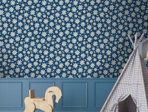 Λουλούδια Μαργαρίτες Παιδικά Ταπετσαρίες Τοίχου 100 x 100 εκ.