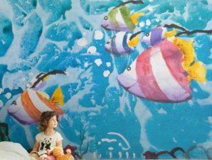 Ψάρια στον βυθό Παιδικά Ταπετσαρίες Τοίχου 85 x 120 cm