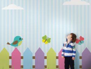 Χρωματιστά Πουλάκια Παιδικά Ταπετσαρίες Τοίχου 100 x 100 εκ.