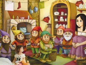 Η χιονάτη και οι επτά νάνοι Παιδικά Ταπετσαρίες Τοίχου 100 x 100 εκ.