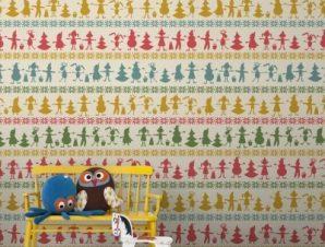 Χριστουγεννιάτικο Μοτίβο Παιδικά Ταπετσαρίες Τοίχου 100 x 100 εκ.