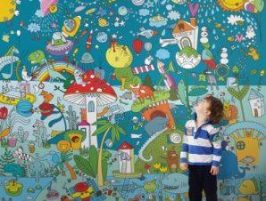 Μαγικός κόσμος Παιδικά Ταπετσαρίες Τοίχου 100 x 100 cm
