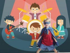 Μουσική συναυλία Παιδικά Ταπετσαρίες Τοίχου 100 x 100 εκ.