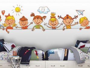 Μικρά παιδάκια Παιδικά Ταπετσαρίες Τοίχου 59 x 200 cm