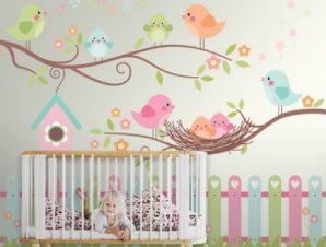Happy Birds Παιδικά Ταπετσαρίες Τοίχου 100 x 100 εκ.