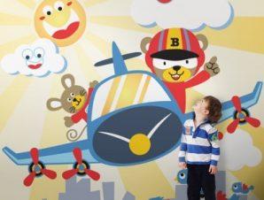 Μικροί Πιλότοι Παιδικά Ταπετσαρίες Τοίχου 100 x 100 εκ.
