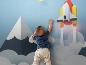 Πάνω Στα Σύνεφφα Παιδικά Ταπετσαρίες Τοίχου 80 x 120 cm