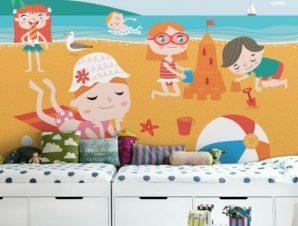 Κάστρα Στην Άμμο Παιδικά Ταπετσαρίες Τοίχου 79 x 120 cm