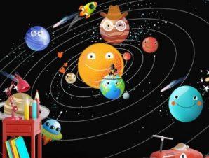 Ηλιακό Σύστημα Παιδικά Ταπετσαρίες Τοίχου 89 x 120 cm