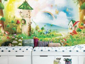 Παραμύθι Παιδικά Ταπετσαρίες Τοίχου 100 x 100 εκ.