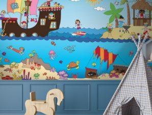 Πειρατές της Καραιβικής Παιδικά Ταπετσαρίες Τοίχου 100 x 100 εκ.