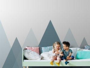 Γκρι Τοπίο Παιδικά Ταπετσαρίες Τοίχου 100 x 100 εκ.