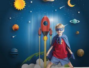 Μικρός Πύραυλος Παιδικά Ταπετσαρίες Τοίχου 100 x 100 εκ.