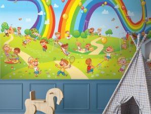 Ουράνια Τόξα Παιδικά Ταπετσαρίες Τοίχου 79 x 150 cm