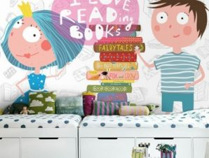Αγαπώ Να Διαβάζω Βιβλία Παιδικά Ταπετσαρίες Τοίχου 80 x 120 cm