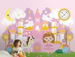 Παραμυθένιο Μέρος Παιδικά Ταπετσαρίες Τοίχου 91 x 100 cm