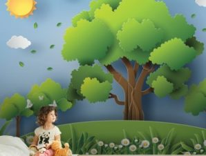 Φύση Παιδικά Ταπετσαρίες Τοίχου 100 x 100 εκ.