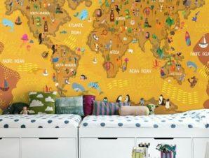 Χάρτης Παιδικά Ταπετσαρίες Τοίχου 70 x 140 cm