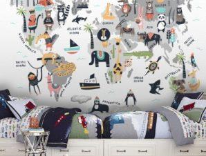 Κόσμος Των Ζώων Παιδικά Ταπετσαρίες Τοίχου 83 x 120 cm