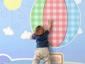 Παιδικό αερόστατο Παιδικά Ταπετσαρίες Τοίχου 100 x 100 εκ.