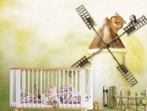 Ο μύλος Παιδικά Ταπετσαρίες Τοίχου 100 x 100 εκ.