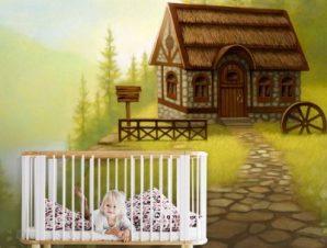 Φανταστικό τοπίο Παιδικά Ταπετσαρίες Τοίχου 100 x 100 εκ.