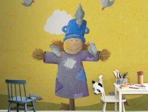Σκιάχτρο Παιδικά Ταπετσαρίες Τοίχου 100 x 100 εκ.