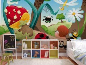 Έντομα Παιδικά Ταπετσαρίες Τοίχου 100 x 100 εκ.