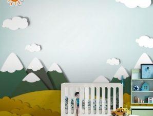 Βουνό Παιδικά Ταπετσαρίες Τοίχου 99 x 110 cm