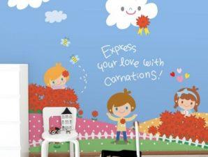Παιδάκια στην εξοχή Παιδικά Ταπετσαρίες Τοίχου 100 x 100 εκ.