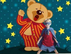 Αρκουδάκι με πιτζάμες Παιδικά Ταπετσαρίες Τοίχου 100 x 100 εκ.