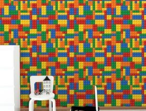 Τουβλάκια Λέγκο Παιδικά Ταπετσαρίες Τοίχου 100 x 100 εκ.