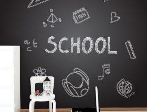 Επιστροφή στο σχολείο Παιδικά Ταπετσαρίες Τοίχου 100 x 100 εκ.